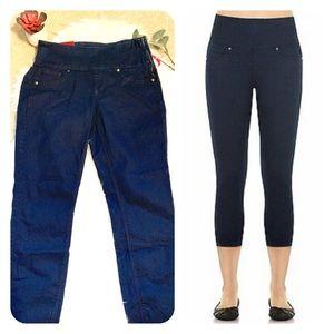 Spanx jean denim crop legging pant NWT